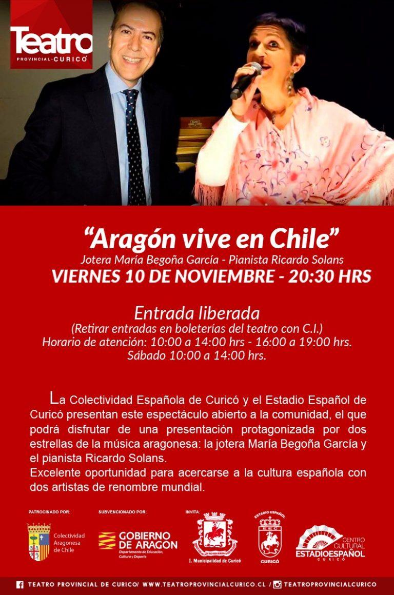 Aragón vive en Curicó (Chile)